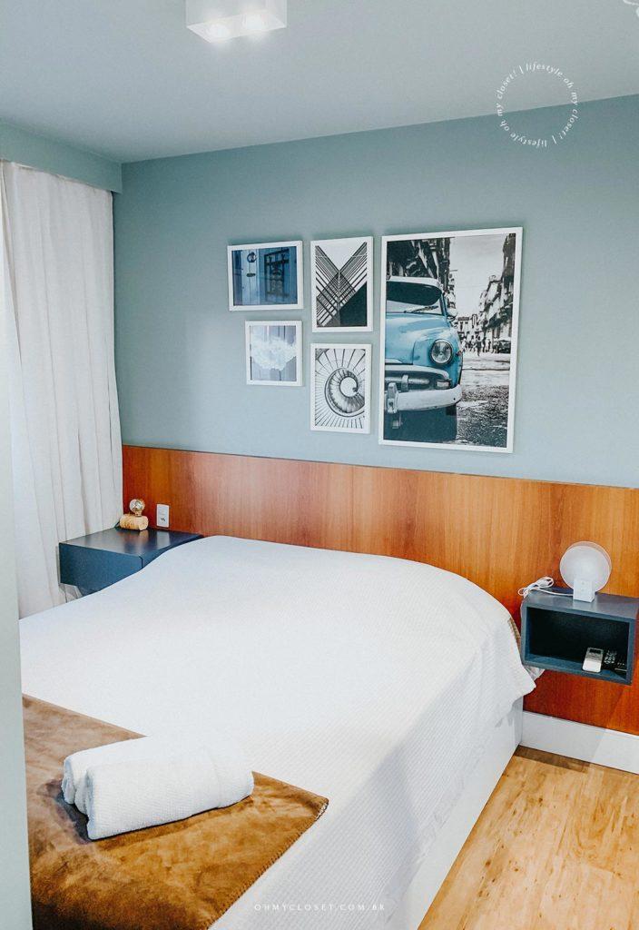 Suite master, cama queen size, AirBnB apartamento São Paulo, Pinheiros.