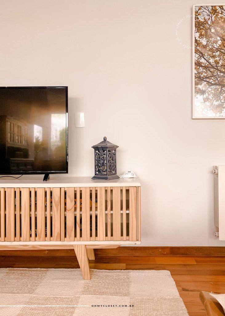 Tv e Rack na sala de estar/tv