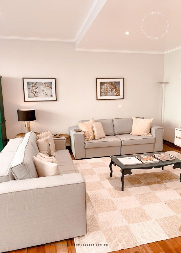 Detalhes da sala apartamento AirBnB em Campos do Jordão