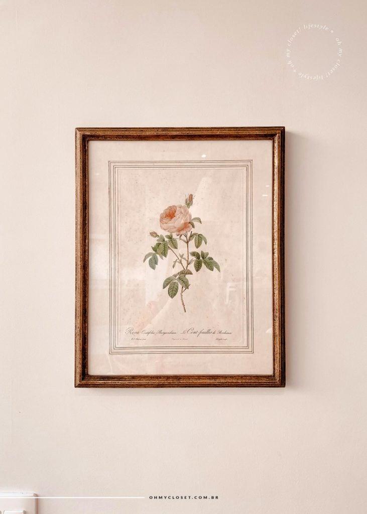 Detalhe/close do quadro, decoração.