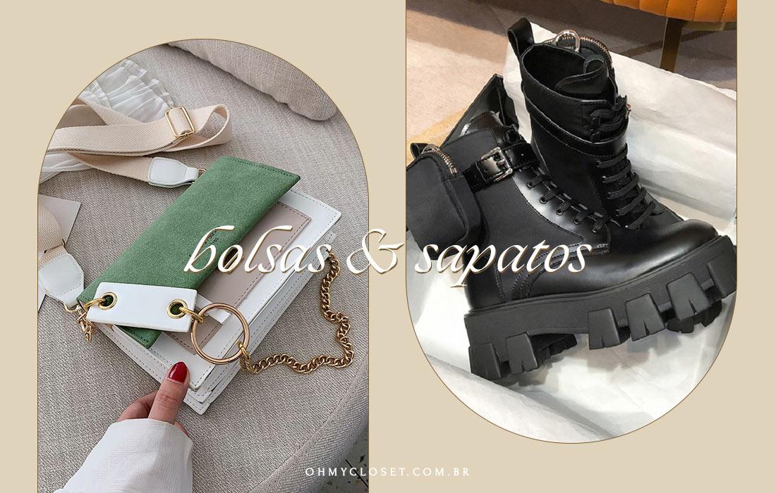 Bolsas e sapatos com desconto na promoção de aniversário do AliExpress.