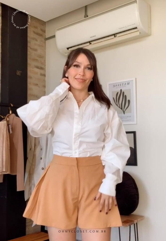 Review camisa branca da SHEIN premium
