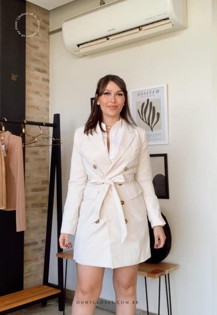 Casaco trench coat SHEIN premium.
