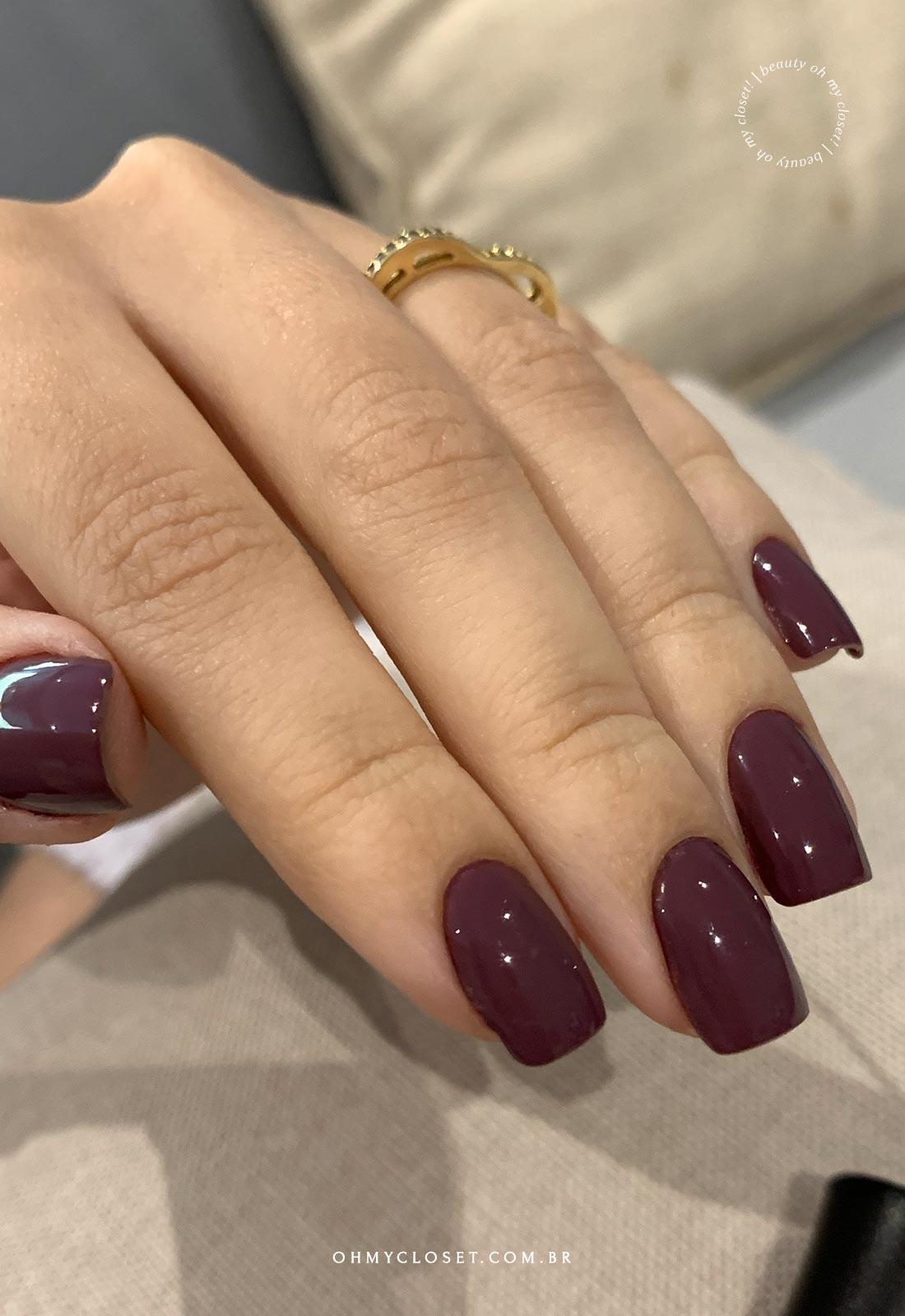 Risqué Diamond Gel - Veludo Rosé e Top Coat Fixador