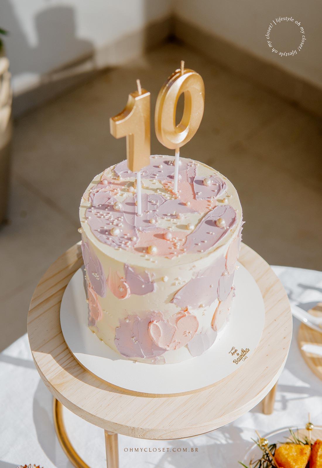 Bolo de comemoração aos 10 anos do Blog Oh My Closet!