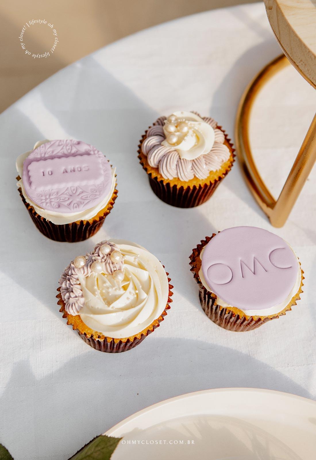 Cupcakes da comemoração dos 10 anos do OMC