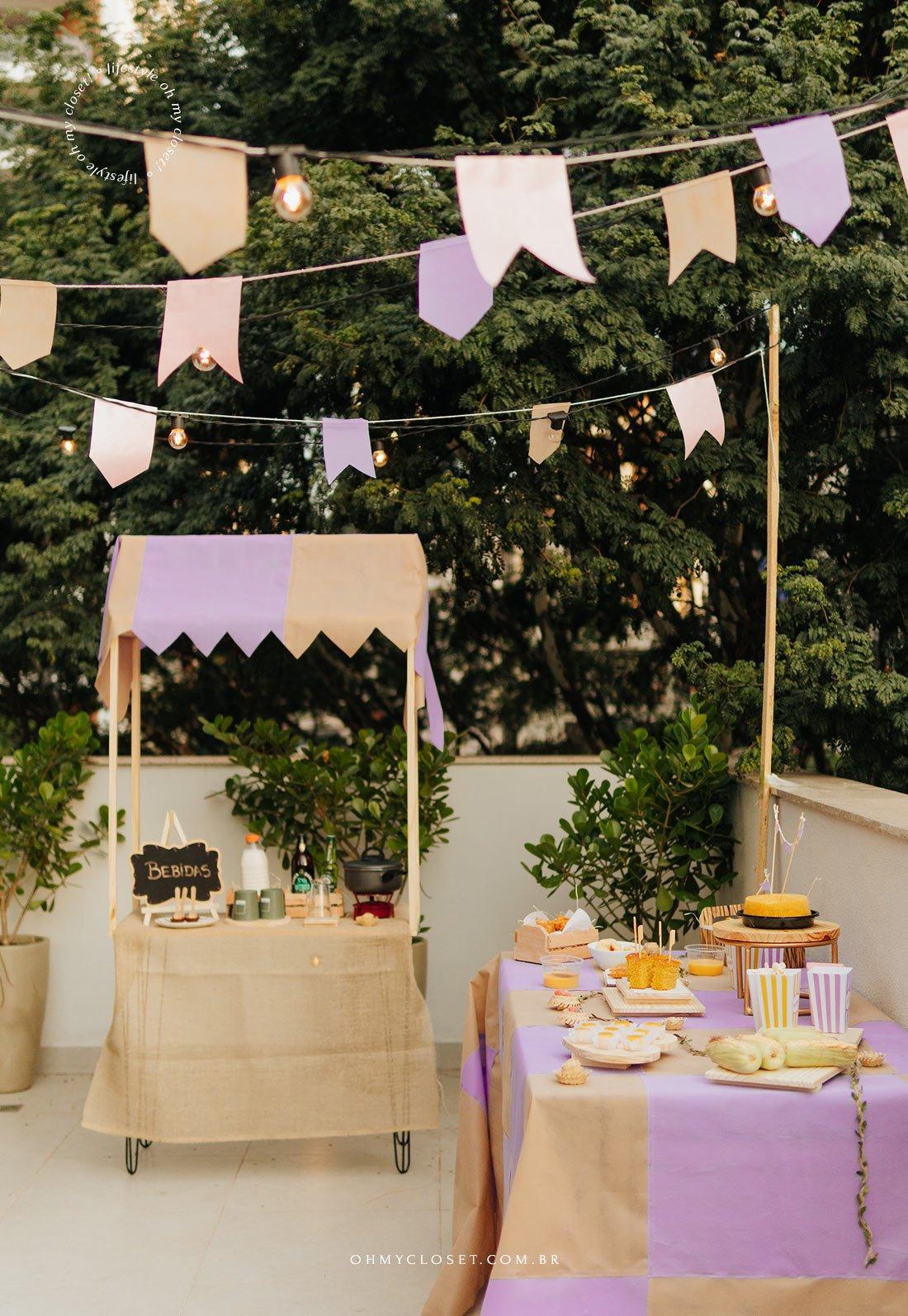 Decoração para festa junina em casa.
