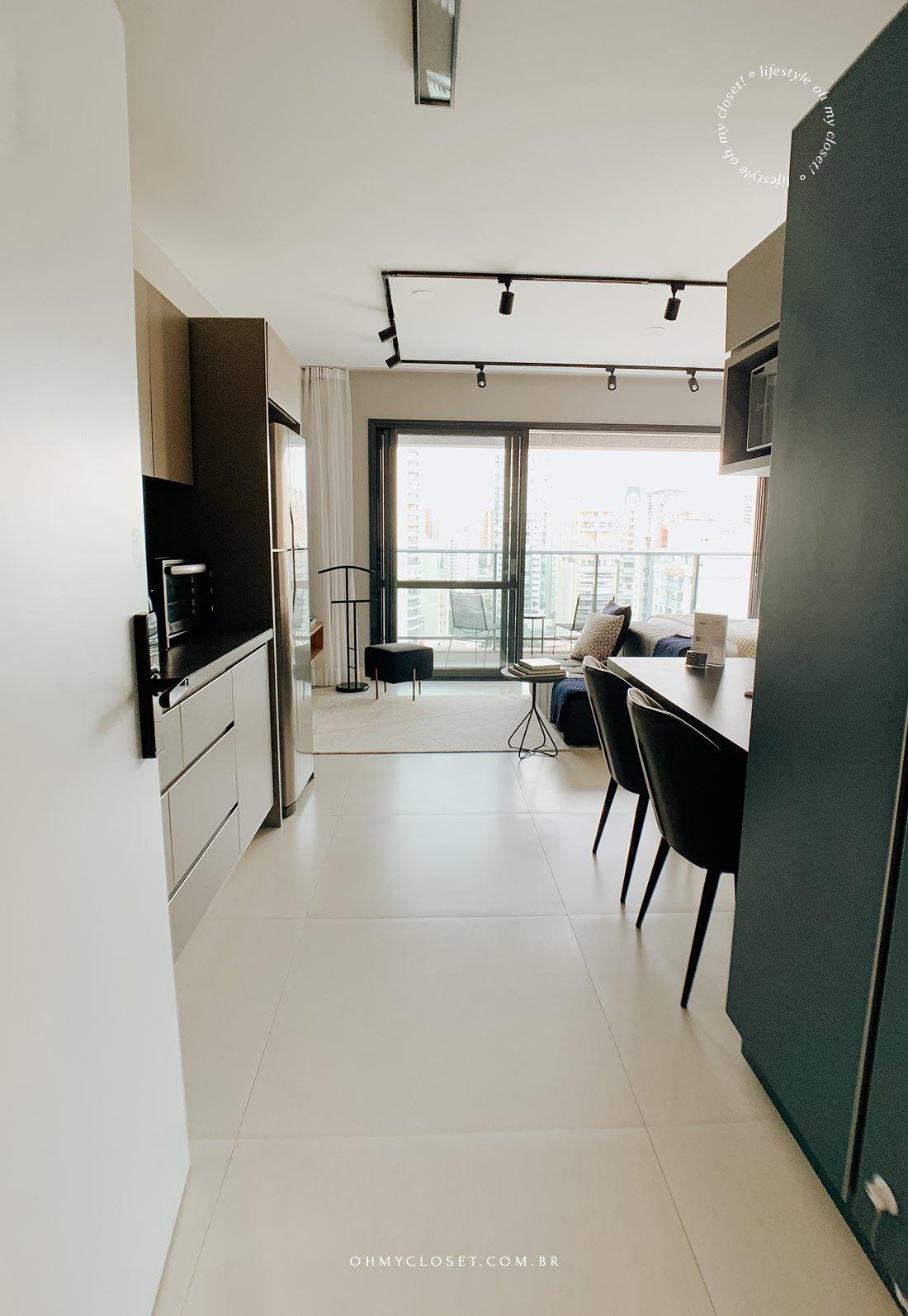 Entrada apartamento studio Casai no Itaim Bibi em São Paulo