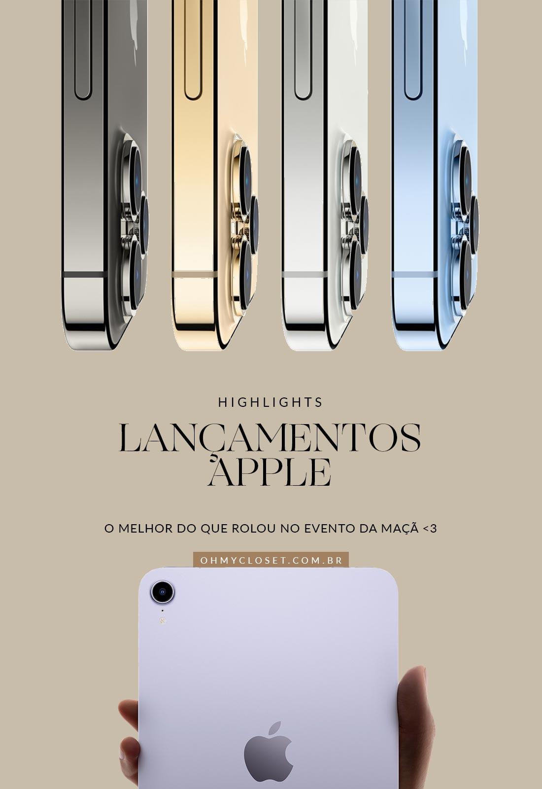 Lançamento Apple Setembro de 2021. iPhone, iPad, and Apple Watch.