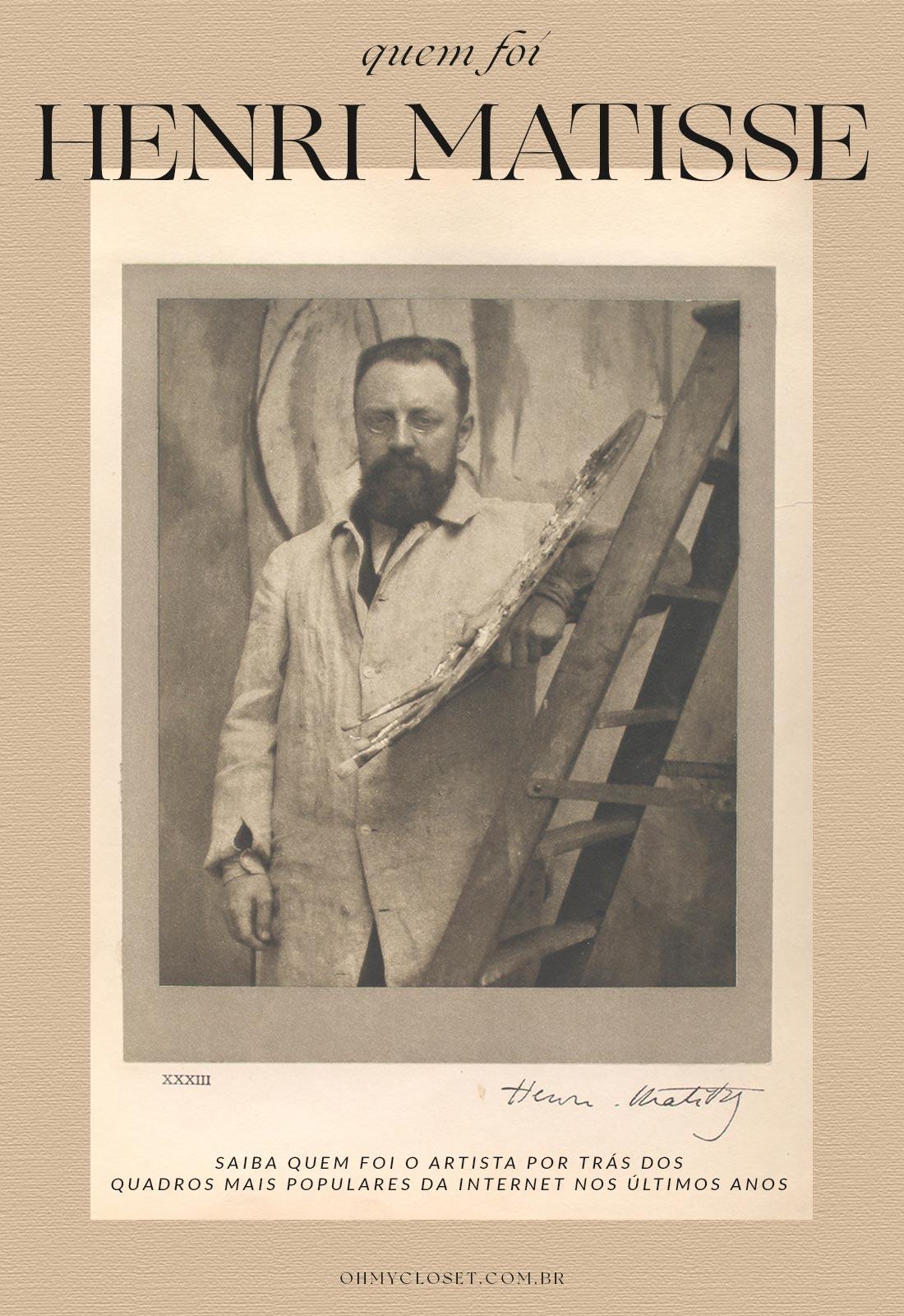 Quem foi Henri Matisse, Biografia, Estilo, Escola Artística e Obras.