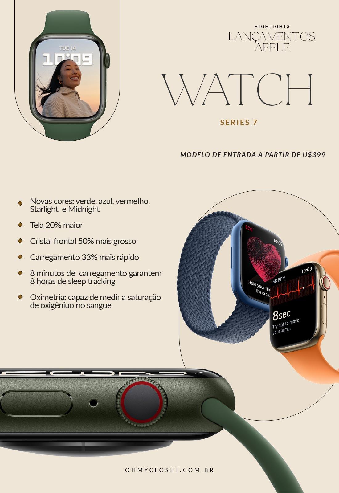 Review Lançamento Apple Watch 7, Evento da Apple Setembro de 2021.