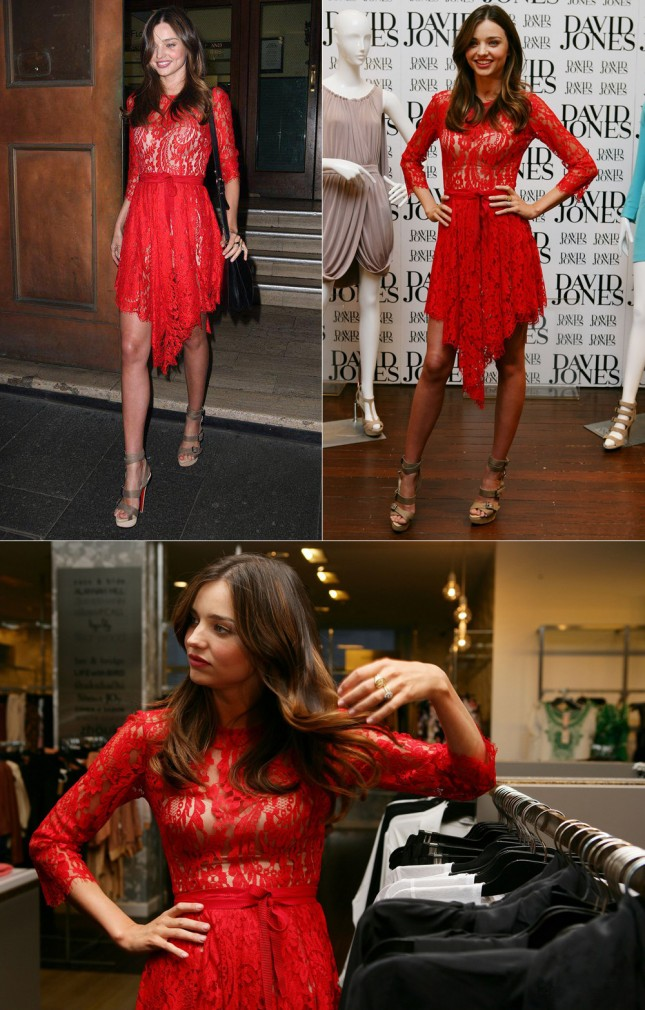 Look Lindo Miranda Kerr no lançamento David Jones